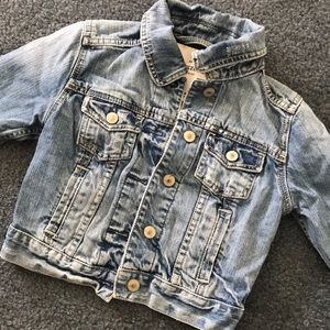 Abercrombie kids cropped jean jacket medium